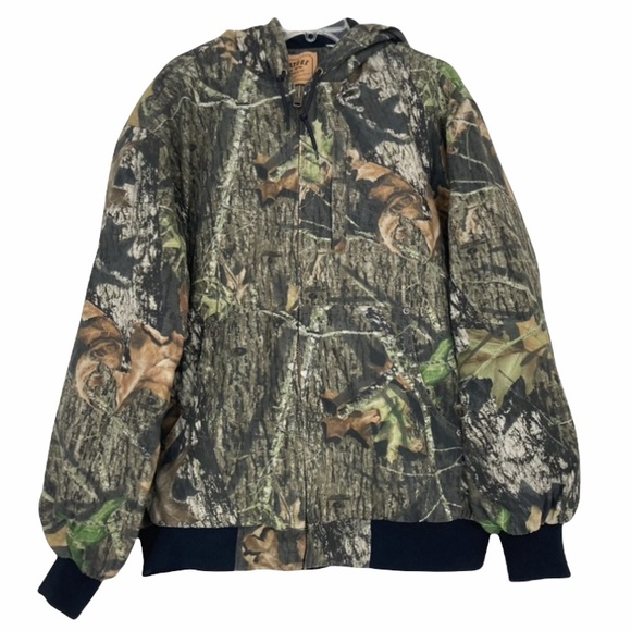 Levi's Strauss & Co camo full zip hunting jacket with hood sz L
